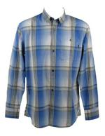 Mens FCUK French Connection Shirt Long Sleeves Blue Check